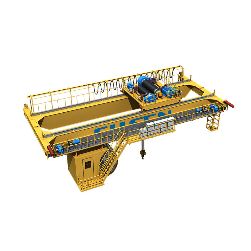 top running double girder crane